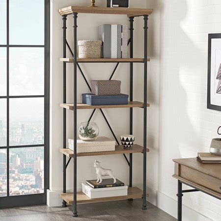 better homes and gardens bookshelf better homes and gardens river crest 5 shelf bookcase