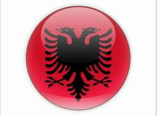 Round icon Illustration of flag of Albania