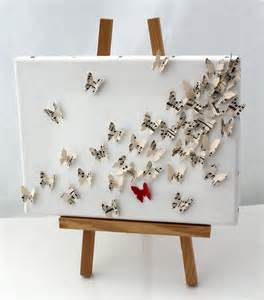 baby s breath wholesale 3d butterfly wall collage on canvas upcycled by xercesart
