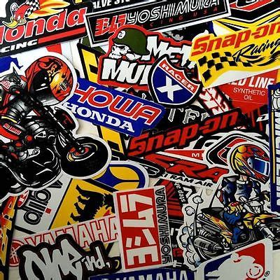 motocross helmet stickers 50 mixed random stickers motocross motorcycle car atv