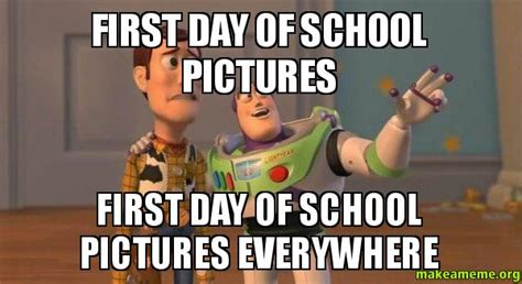 First Day Of School Memes - first day of school first day of school nemo meme