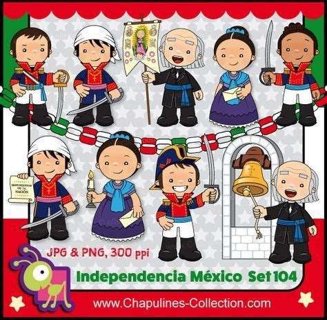 mexican independence clip heroes mexico clipart school illustrations