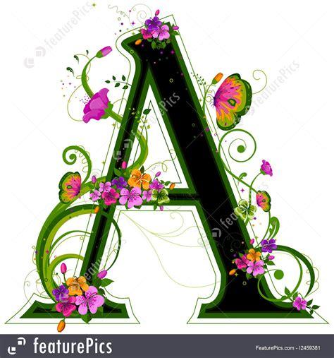 floral alphabet stock illustration   featurepics