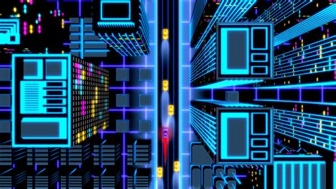 image  neon drive  style arcade game mod db