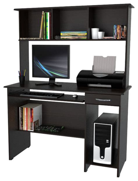 modern computer desk with hutch computer workcenter with hutch modern desks and hutches