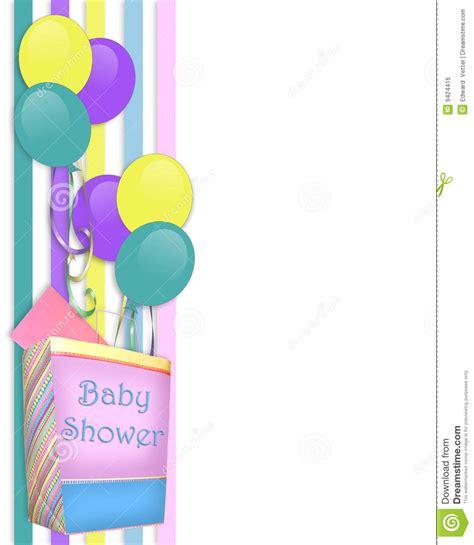gift for 50th wedding anniversary baby shower invitation border stock illustration
