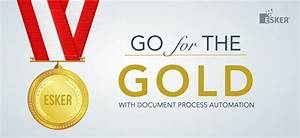 document process automation winning the gold medal With esker document process automation
