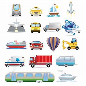 Transport Icon Set Vector | Free Download