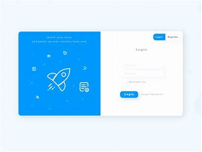 Login Icons Dribbble Today Sign Register Copy