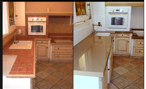 changer le plan de travail d une cuisine rénovation d 39 un plan de travail d 39 une cuisine rustique à