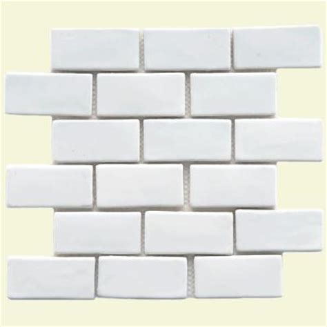 home depot merola subway tile merola tile cobble subway white 12 in x 12 in x 12 mm