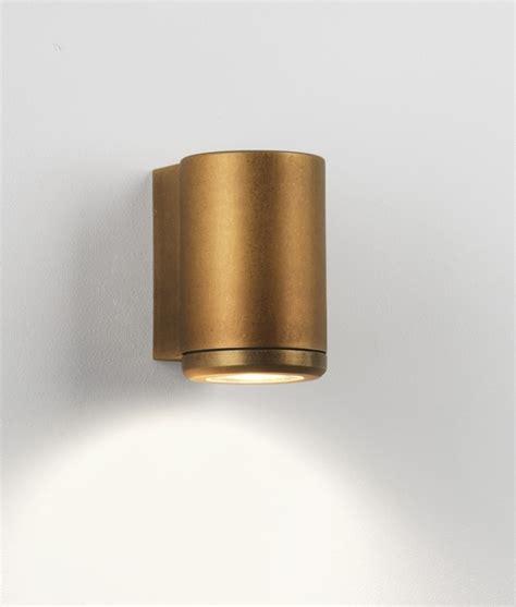 single led antique brass coastal wall light