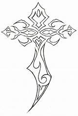 Cross Tribal Tattoos Tattoo Rose Drawing Newgrounds Schwarze Crosses Coloring Celtic Calf Tatuajes Ngs Zeichnungen Schablonen Vorlagen Keltische Kreuz Visitar sketch template