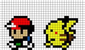 Pokemon Pikachu Pixel Art