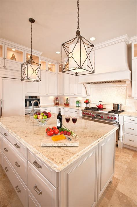 traditional kitchen lighting inspired white granite countertops vogue edmonton 2904