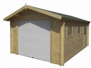 Garage bois avec porte motorisee id2232 contact france for Garage bois avec porte motorisée