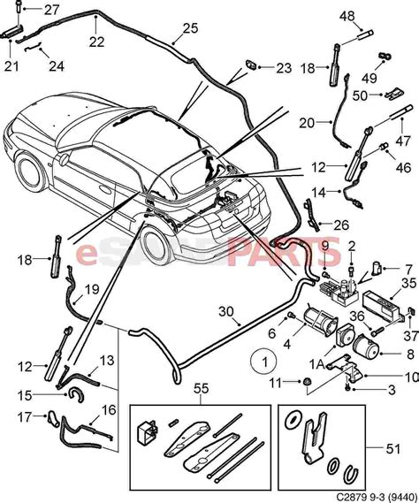 Wireing Diagram For A 1999 Saab 9 3 4 Door by Saab 9 3 Parts Diagram Decor