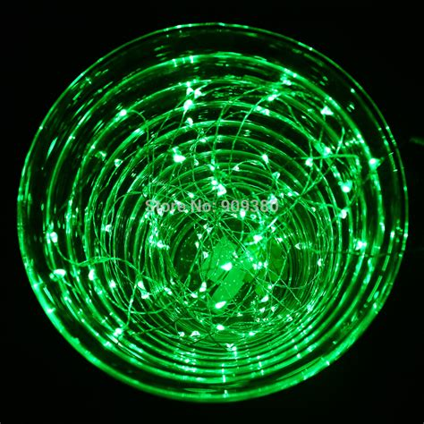 33ft 100 led outdoor lights green copper