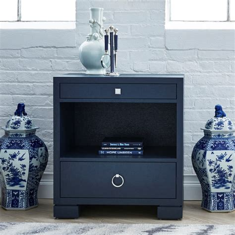 navy blue side table frances 2 drawer side table navy blue bungalow 5