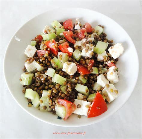 cuisine grecque traditionnelle salade de lentilles à la grecque aux fourneaux