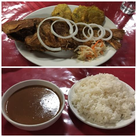 creole cuisine fried fish and white rice sauce pois yelp
