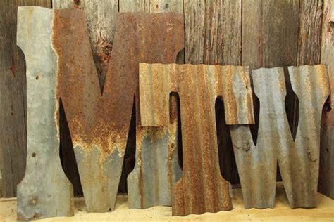 custom cut decor customized monogram rustic tin letters