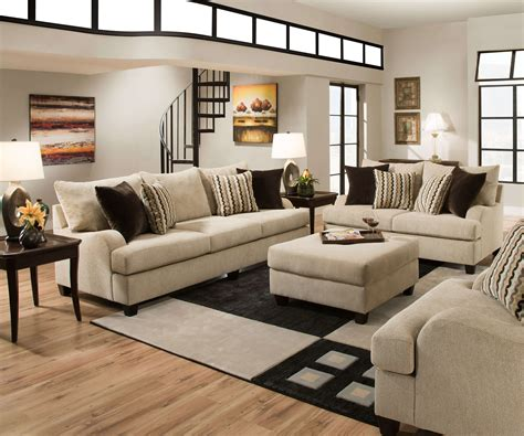 Livingroom Sets by Simmons Taupe Living Room Set Fabric Living