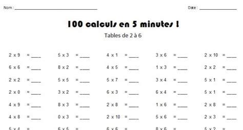 generateur tables de multiplication g 233 n 233 rateurs de tests de tables charivari 224 l 233 cole