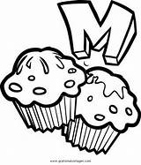 Muffin Coloring Colorare Zum Ausmalen Drawing Disegni Clipart Colouring Template Lebensmittel Muffins Poochyena Alimenti Dolci Speisen Know Cupcake Disegno English sketch template