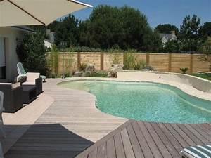 Piscine Avec Terrasse Bois : terrasse avec piscine nos conseils ~ Nature-et-papiers.com Idées de Décoration