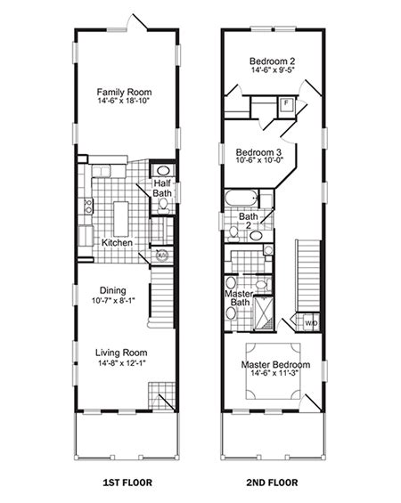 narrow lot floor plans floor  plannarrow lot house