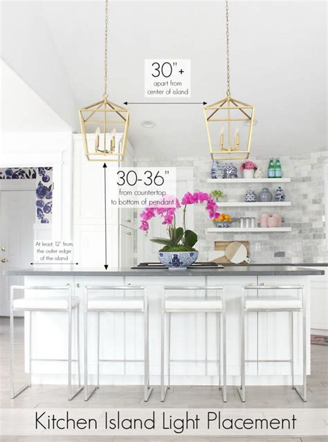 pendant lights for kitchen island spacing kitchen island lighting ideas and height diagrams for 9085