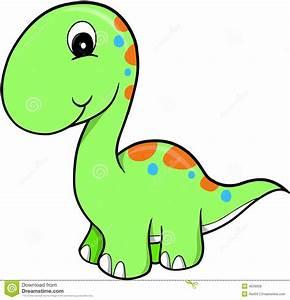 Free Cute Dinosaur Clipart - ClipartXtras
