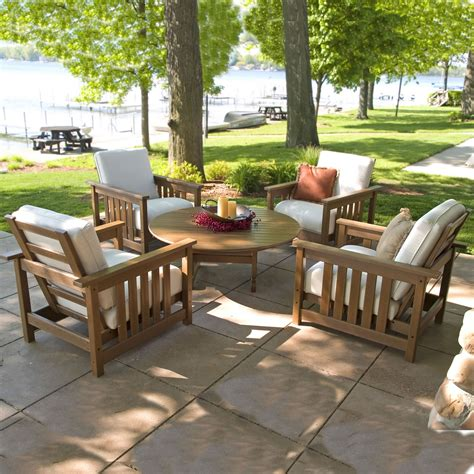 polywood patio furniture reviews photos polywood 5 conversation set