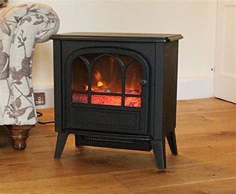 Electric Wood Burner by Kingfisher Portable Electric Wood Burner Style Stove