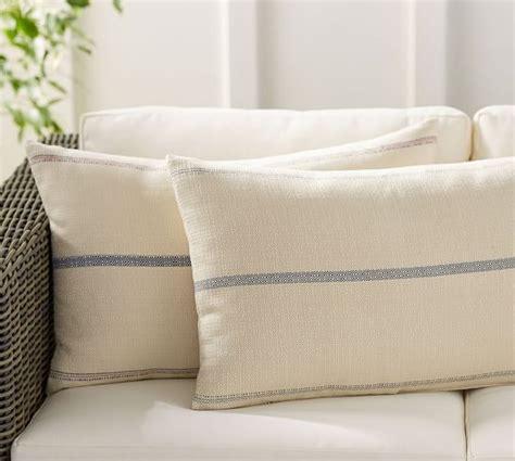 pottery barn outdoor pillows grainsack indoor outdoor lumbar pillow pottery barn