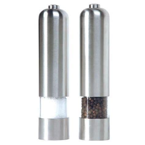 vente ustensile cuisine professionnel moulin sel poivre electrique lot de 2 moulins electriques poivre et sel achat vente moulin