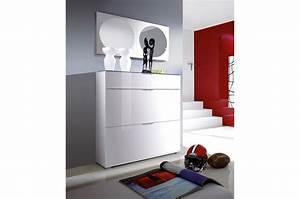 Meuble Chaussure Design : meuble laqu blanc conforama simple ordinary meuble tv blanc laqu conforama miroir mural en gris ~ Teatrodelosmanantiales.com Idées de Décoration