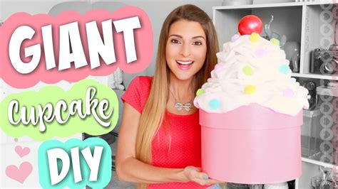 diy giant cupcake storage box cute room party decor