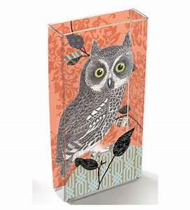 Owl Decor, Decorative Glass Vases with Owl Decorations