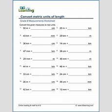 Grade 6 Measurement Worksheets Metric Lengths (mm, Cm, M And Km)  K5 Learning