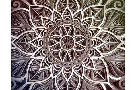 3d layered mandala svg 591651 paper cutting design bundles. Free 3D Mandala Layered Svg For Cricut - Free SVG Cut File ...