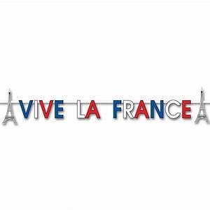 Vive la France Banner 2m x 15cm Rugby Decorations Peeks
