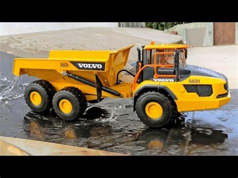 bruder truck volvo ah dump truck  long play video