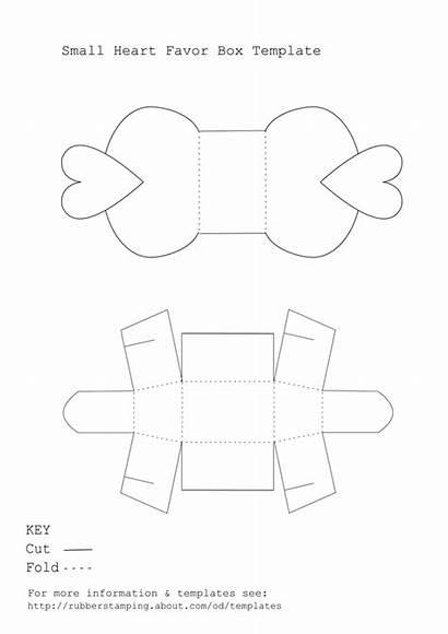 Box Template Favor Templates Printable Heart Boxes