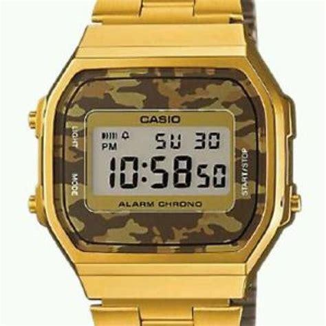 orologio casio mimetico orologio casio a 168wegc 5e mimetico dorato gold