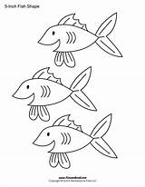 Fish Template Printable Templates Coloring Shape Cutouts Drawing Blank Shapes Printables Preschool Pages Popular Inch Getdrawings Coloringhome sketch template