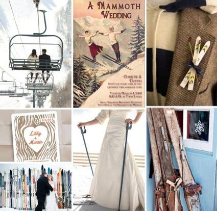 Ski Themed Wedding  Winter Wedding Decor  Snow Wedding Ideas