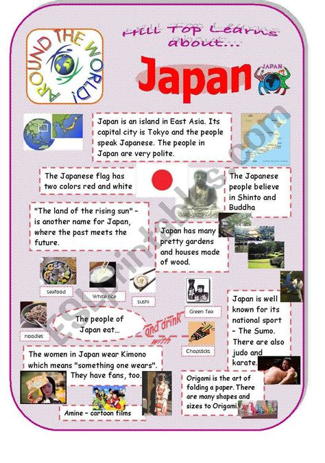 japan an introduction to the country and culture esl