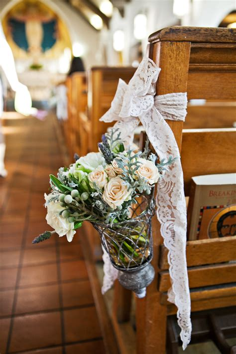 church pew ceremony flowers elizabeth anne designs